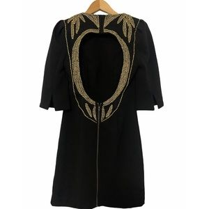 Silence + Noise Embellished Little Black Dress